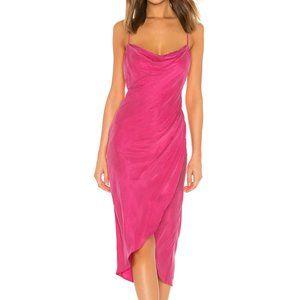 Lovers + Friends Noah Wrap Dress Hot Pink M